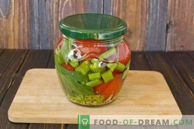 marineeritud tomatid selleriga ja sinepiga