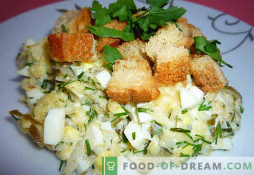 Salatid marineeritud kurgi - tõestatud retseptid. Kuidas õigesti ja maitsev valmistada salat hapukurkidega.