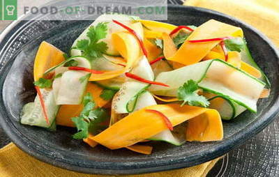 Salad with cucumber and carrots - freshness in each spoon. The best recipes for salads with cucumber and carrots: simple, dietary