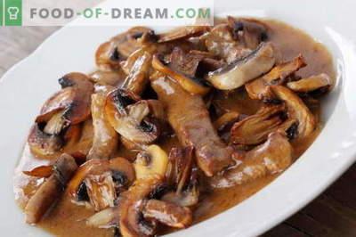 Liha seentega - parimad retseptid. Kuidas õigesti ja maitsev küpsetada liha seentega.