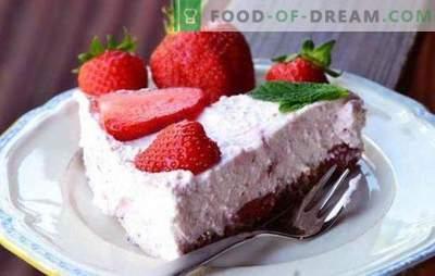 Ricotta kook on tervislik ja maitsev magustoit! Receptid lihtsad ja ricotta koogid želatiiniga, marjadega, šokolaadiga