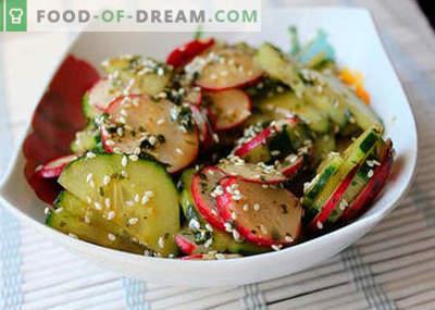 Salate japoneze - cele mai bune rețete. Cum să gătești în mod corect și gustos salată japoneză.