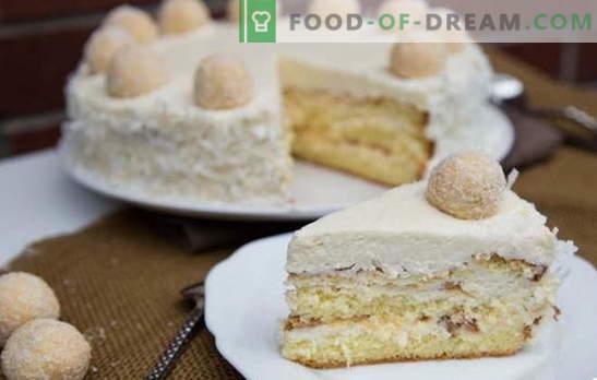 Amazing Raffaello kook: retseptid kodus. Kõik Raffaello koogi kodus tehtud saladused ja nüansid