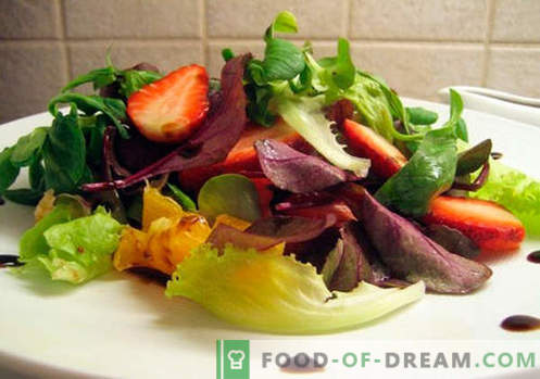 Salat, mis sisaldab palsamiga äädikat. Kuidas valmistada salat balsamiviiniga.