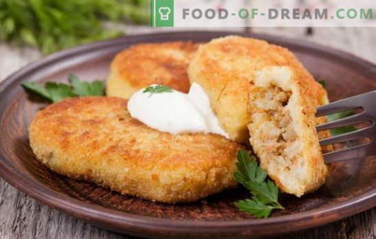 Kartuli zrazy liha - ideaalne roog snacking. Retseptid kartuli zraz liha: ahjus ja pannil