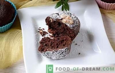 Šokolaadi kuklid on suurepärane algus. Autorite samm-sammult foto retsept šokolaadi muffinid manna