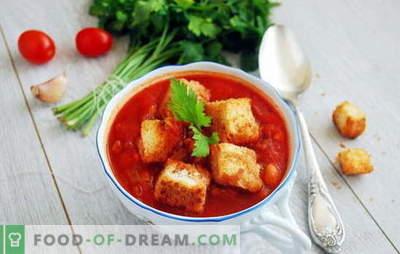 Supp tomatipasta - tere, Itaalia! 8 retseptid maitsvatest suppidest tomatipastaga: riisi, nuudlite, köögiviljade, lihapallidega