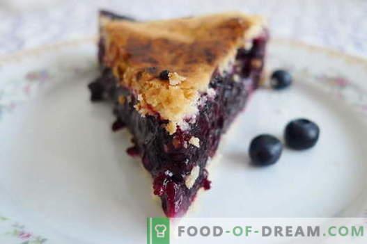 Blueberry pie - parimad retseptid. Kuidas õigesti ja maitsev kokk mustikakoogi.