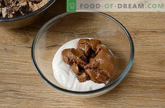 Kiire nami teele - piparkoogi kook ilma küpsetamata. Autori samm-sammult retsept kook ilma piparkoogideta: üksikasjalikud fotod