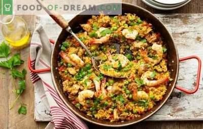 Classic Paella - päikeseline Hispaania oma kodus! Klassikalise paella retseptid lihaga ja ilma, mereannid, peekon
