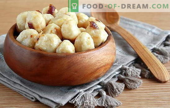 Lacy pelmeenid kartulitega: põhilised koostisosad, toiduvalmistamise põhimõtted. Retseptid maitsvad laiskad pelmeenid kartulitega