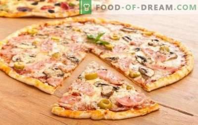 Massa de pizza fina - o segredo dos italianos! 7 melhores receitas para massa de pizza fina: sem fermento e a levedura usual