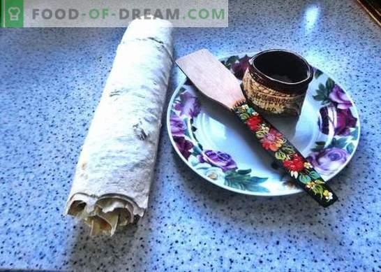 Lavash rull sulatatud juustuga: eelarveline suupiste. Samm-sammuline foto retsept sulatatud juustuga pita leiva rullist: lihtne ja maitsev!