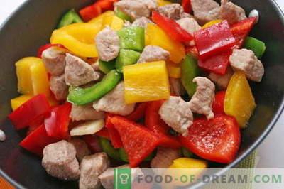 Liha köögiviljadega - parimad retseptid. Kuidas õigesti ja maitsvaid küpsetada liha köögiviljadega.