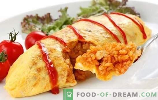 Jaapani omlett riisiga on tuttav uus variatsioon. Kuus originaalset retsepti Jaapani omlettist riisiga
