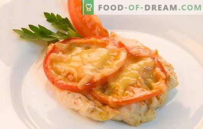 Kanafilee retseptid tomati ja juustuga ahjus. Kanafilee küpsetamine tomatite ja juustuga ahjus - kiire, lihtne!