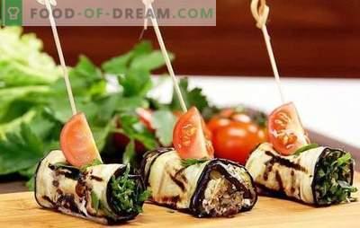 Baklažanų ritiniai su sūriu ir česnaku - yummy! Geriausios baklažanų ritinių idėjos sūriui ir česnakui