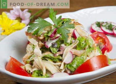 Pannkook salat - valik parimaid retsepte. Kuidas õigesti ja maitsev kokk pannkook salat.