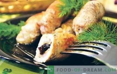 Sealiha sõrmed - liha täis! Retseptid aromaatsete, mahlaste ja ruddy varvaste jaoks, mis täidavad rahuldava pidu