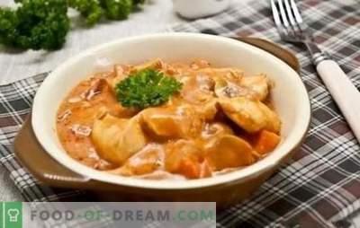 Przepisy krok po kroku na gulasz z kurczaka z sosem. Smaczne i proste pomysły na rodzinny obiad: gulasz z kurczaka z sosem w przepisach krok po kroku