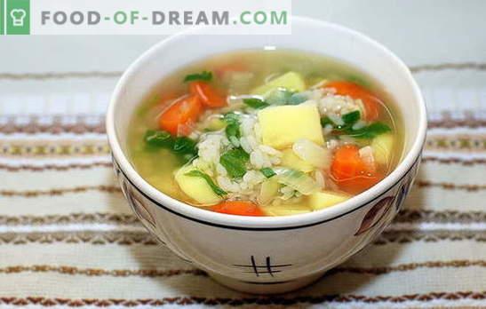Supp riisi ja kartulitega: kiire, maitsev ja tervislik. Riisi ja kartuliga keedupoeg on lihtne ja kiire protsess