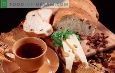 Valge ja rukkileiva retseptid rosinate ja ahju jaoks. Traditsiooniline rahvuslik kondiitritooted - leiba rosinatega