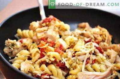 Kana pasta - parimad retseptid. Kuidas korralikult ja maitsvalt küpsetada kana pastaga aeglases pliidis.
