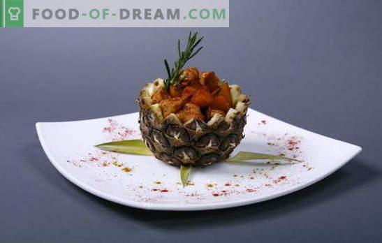 Kanafilee retseptide ja ananassidega küpsetamine ja lihtsus ahjus. Kanafilee ananassi abil ahjus - lihtne!