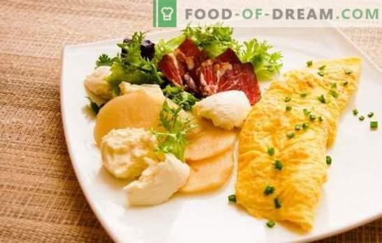 Prantsuse omlett - ebatavaliselt mahlane! Maitsvad prantsuse omeletsid klassikalise retsepti järgi ja täidisega