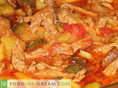Beef Azu - parimad retseptid. Kuidas õigesti ja maitsvaid veiseliha küpsetada
