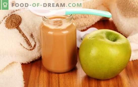 Õunapüree lastele: kuidas seda korralikult ja maitsvalt valmistada. Retseptid õunapüree jaoks väikelastele
