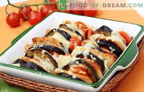 Küpsised ja baklažaani pajaroog ahjus on kasulik teine. Retseptid suvikorvitsas ja baklažaanipookides ahjus juustu, hakkliha, kana rinnaga