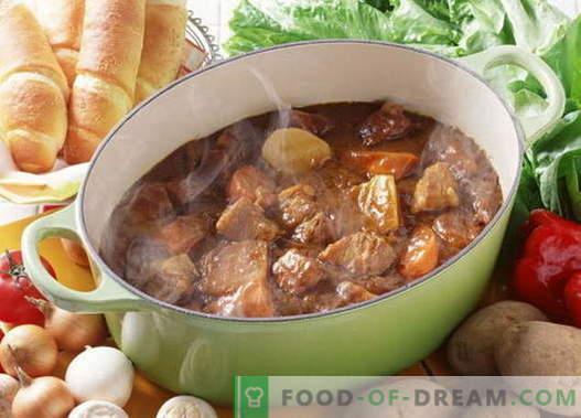 Estofado de cerdo - las mejores recetas. Cómo cocinar correctamente y sabroso guisado de cerdo.