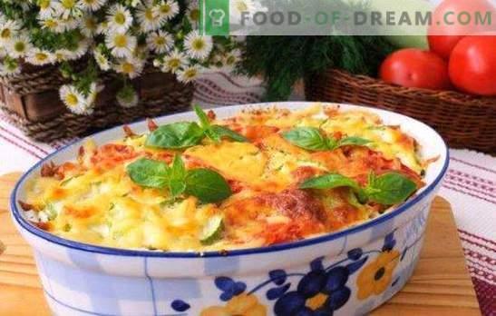 Pott, juust ja hakkliha - õhtusöök pool tundi. Retseptid juustu ja hakklihaga: kartul, köögivili, pasta