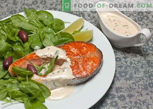 Kala kastmed - parimad retseptid. Kuidas korralikult ja kala kaste küpsetada.
