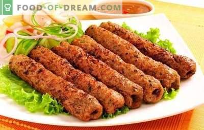 Lyulya-kebab pannil - alternatiiv lihapallidele. Kodune kebabi valmistamine pannil