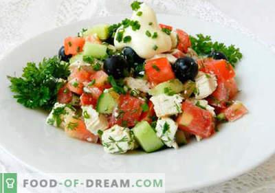 Oliividega salat - valik parimaid retsepte. Kuidas õigesti ja maitsev valmistada salat oliividega.