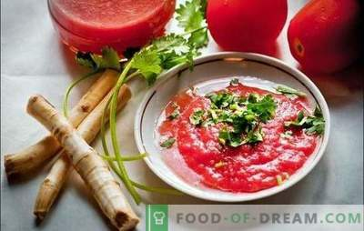 Mädarõigas tomatite ja küüslauguga - maitsev jama! Kuidas teha mädarõika maitseained tomatite ja küüslauguga erinevalt