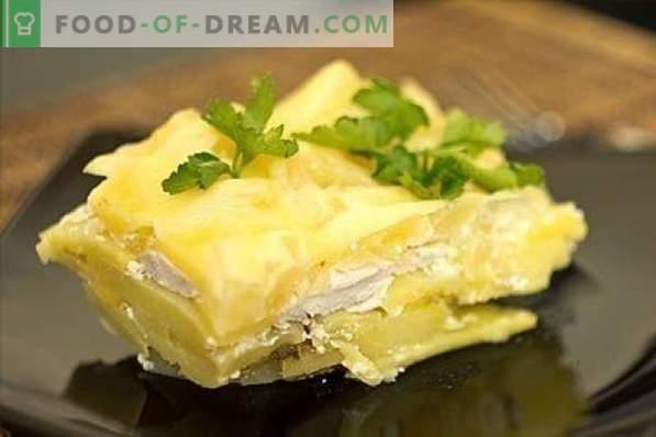 Kana rinnaga kartuliga - see ei ole lihtne, kuid väga lihtne! Stews, pajaroogad, rullid, zrazy ja muud kana- ja kartuliretseptid