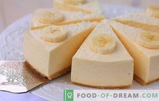 Banana soufflé - hägune magustoidu magustoit! Lihtsad retseptid banaanisohvlile koos juustu, manna, šokolaadiga