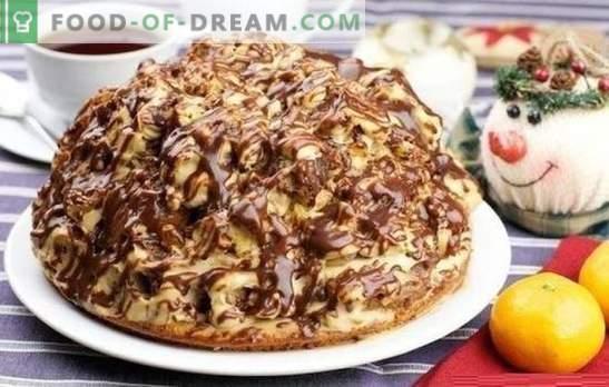 Curly Pincher Cake - huvitav ja maitsev! Retseptid šokolaadile, pähklile, puuviljakookidele