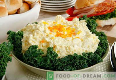 Munade salat - tõestatud retseptid. Kuidas valmistada muna salatit.