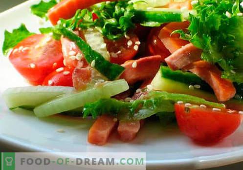Taimsed salatid - viis parimat retsepti. Kuidas õigesti ja maitsvalt valmistada salatid taimeõliga.