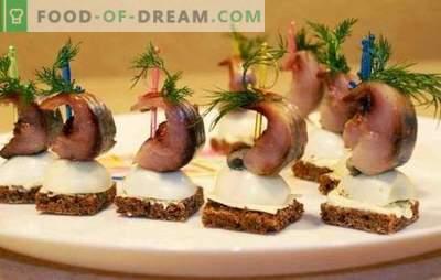 Heeringa suupiste - puhkusetabeli menüü. Hariliku heeringa suupistete valmistamise viisid