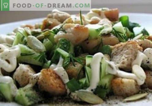 Kirieshkami salat - tõestatud retseptid. Kuidas õigesti ja maitsev keedetud salat kirieshkami.