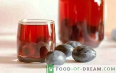 Ploomid ja viinamarjad - tervislik jook aastaringselt. Lõhna kompoomi ploomidest ja viinamarjadest ei juhtu palju