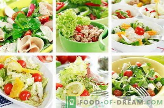Kana salatid on parimad retseptid. Kuidas valmistada kana salateid.