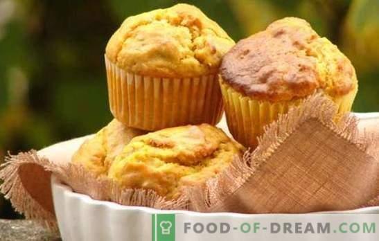 Pumpkin Cupcake - küpsetamine kasuga! Valik retsepte kõrvitsaga ja rosinatega muffinitele, suhkrustatud puuviljadele, teraviljadele, šokolaadile, pähklitele