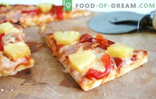 Pineapple Pizza - Itaalia pirukas eksootilise maitsega! Erinevate pizza ananassi valmistamine: soolane, vürtsikas, magus