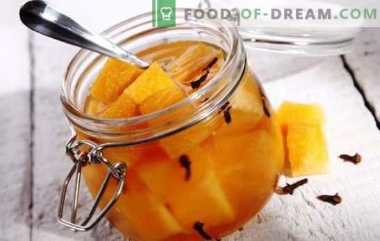 Marineeritud melon - ootamatud eksperimentid maitsega. Parimad retseptid marineeritud melonitele: mee, kirsi, ingveriga